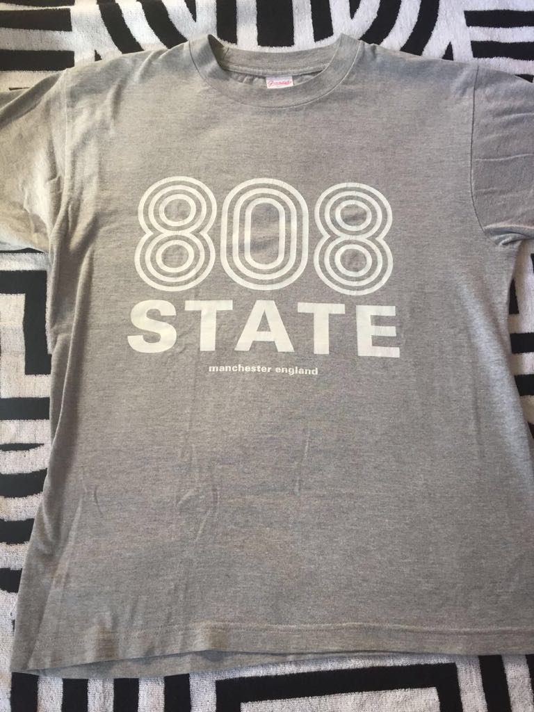 808 STATE Tシャツ manchester UK テクノ ハウス new order england madchester クラブカルチャー