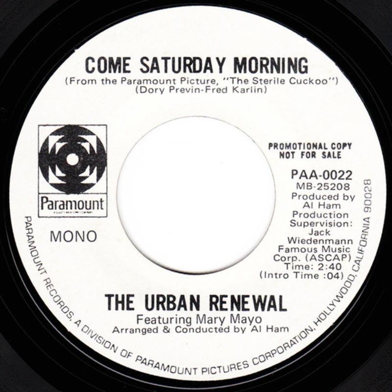 The Urban Renewal, Mary Mayo ソフトロックシンガーズ 試聴_画像2