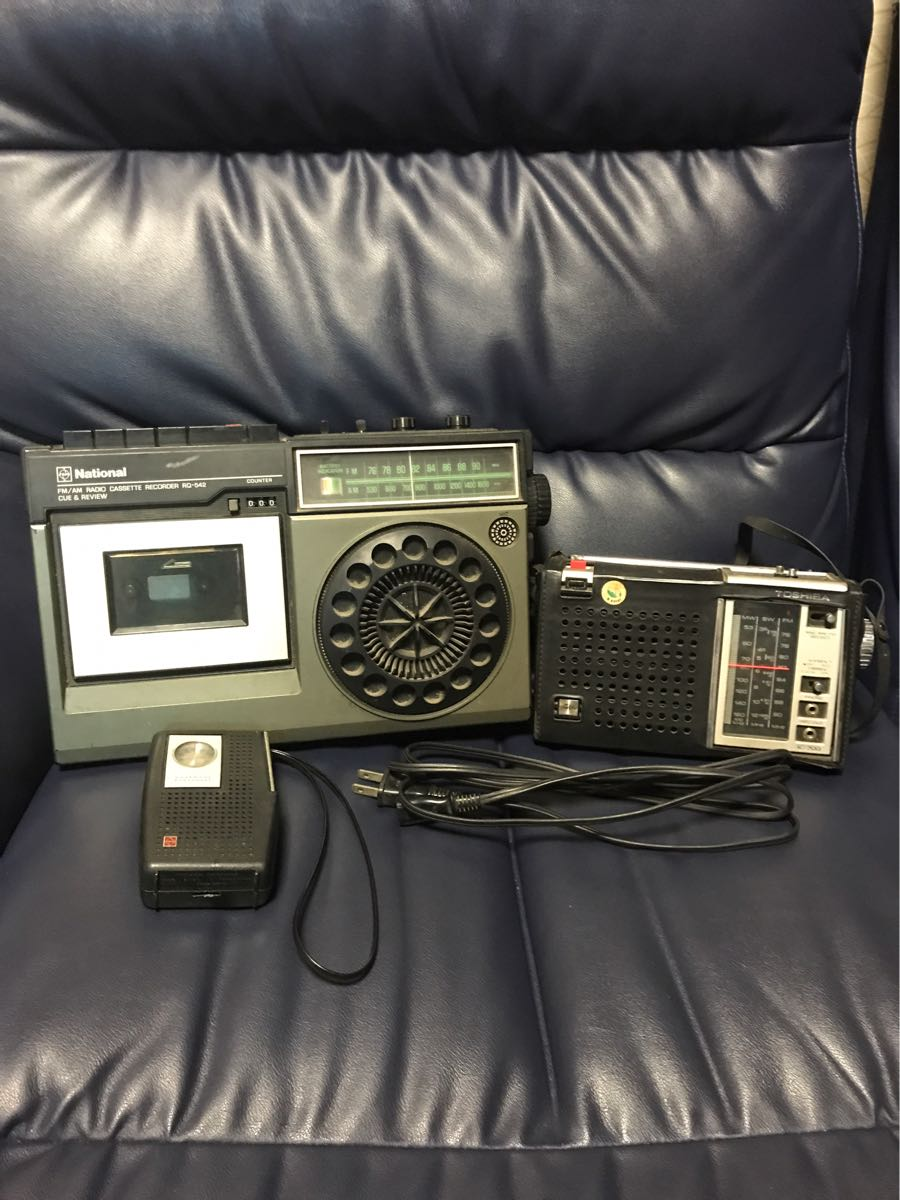 昭和レトロ ナショナル(RQ-542)(R-123)TOSHIBA(IC-700)ラジオ 3点まとめ