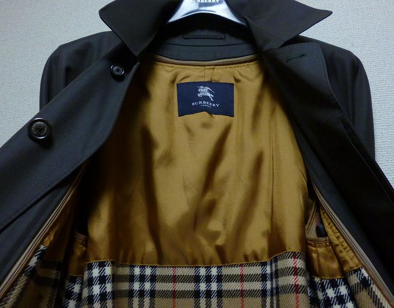 30万超! 極上極美! ☆BURBERRY☆ バーバリーロンドン 最上級羊毛&絹 カシミヤライナー