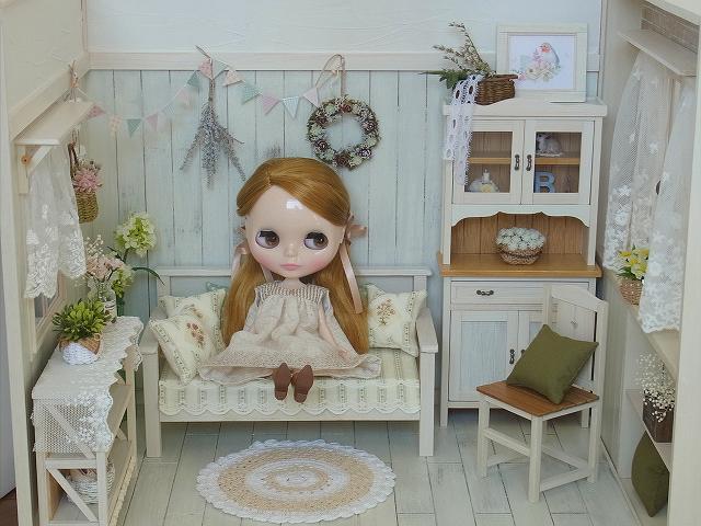 手作り☆12月のドールハウス☆1/6サイズ☆ブライス、momoko等に☆