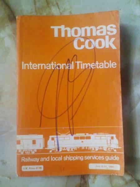 1980年トーマスクック時刻表ThomasCook International Timetable_画像1