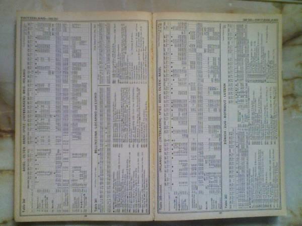 1980年トーマスクック時刻表ThomasCook International Timetable_画像2