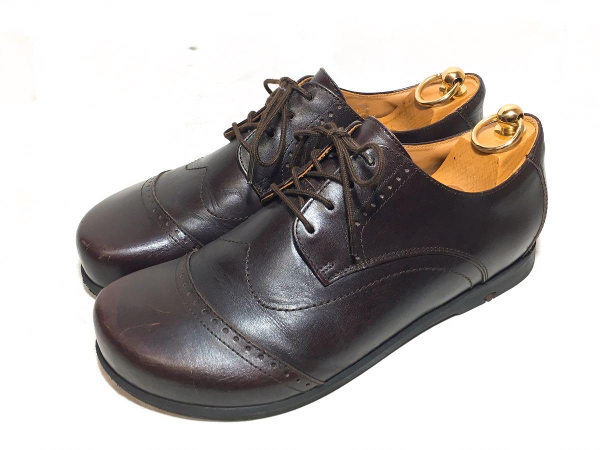 【美品】FOOTPRINTS/フットプリンツ/ビルケンシュトック/レザーシューズ/短靴/40(26cm)/メンズ/本革