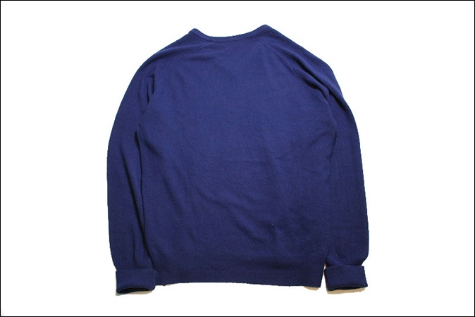 【XL】 70's IZOD LACOSTE アイゾッド ラコステ アクリル ニット セーター ネイビー Vネック ビンテージ USA 古着 オールド GC159_画像2
