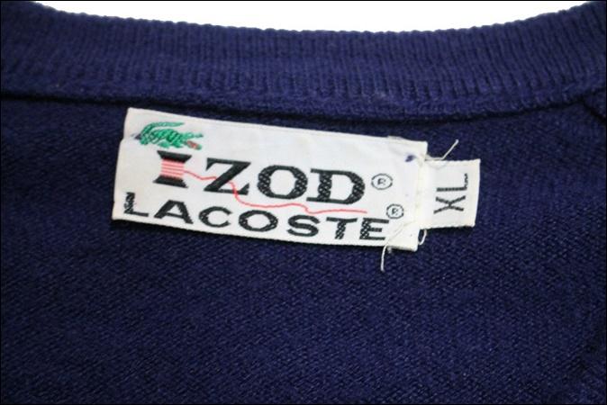 【XL】 70's IZOD LACOSTE アイゾッド ラコステ アクリル ニット セーター ネイビー Vネック ビンテージ USA 古着 オールド GC159_画像5