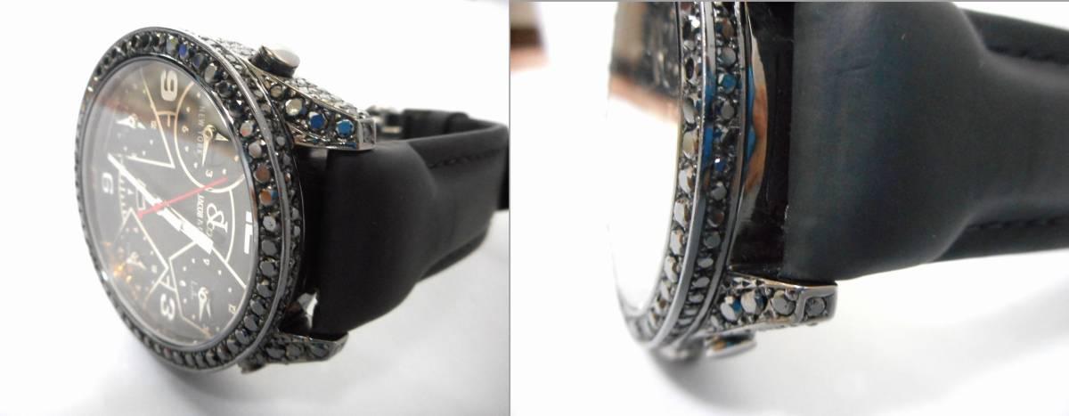 Jacob&co ジェイコブ ファイブタイムゾーン 47mm 全面 天然ブラックダイヤをアフターダイヤ加工します カスタムDUNAMIS アイステックウブロ_画像9