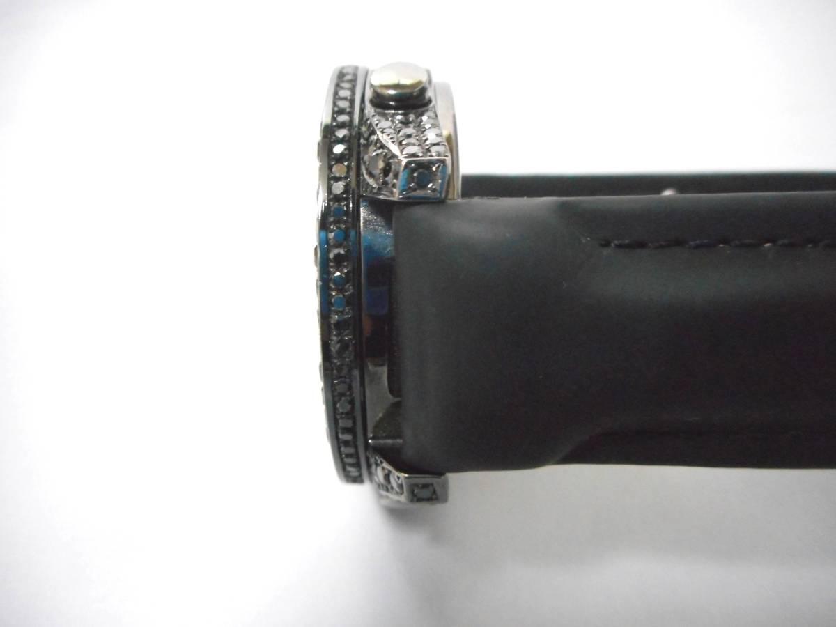 Jacob&co ジェイコブ ファイブタイムゾーン 47mm 全面 天然ブラックダイヤをアフターダイヤ加工します カスタムDUNAMIS アイステックウブロ_画像5