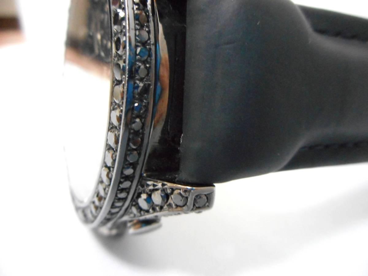 Jacob&co ジェイコブ ファイブタイムゾーン 47mm 全面 天然ブラックダイヤをアフターダイヤ加工します カスタムDUNAMIS アイステックウブロ_画像6