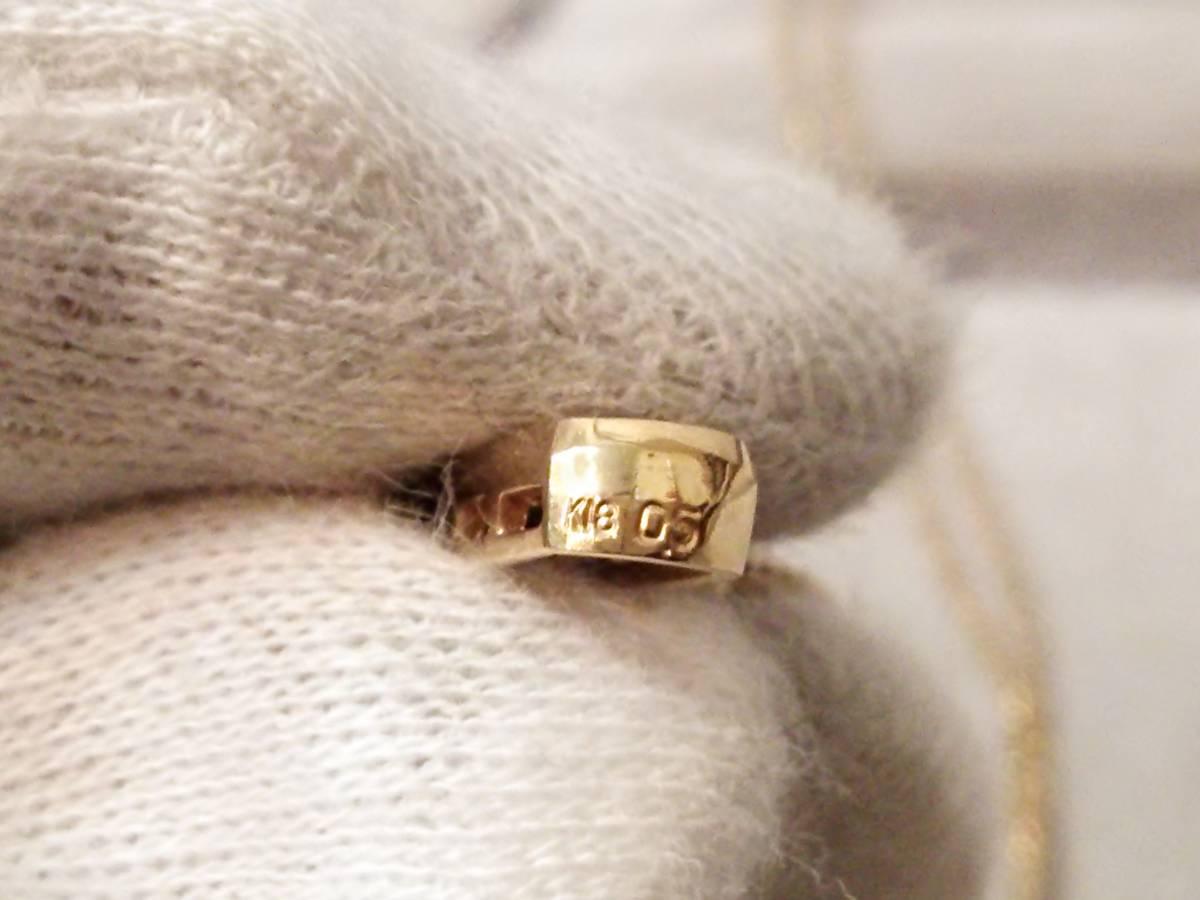 即決 豪華 大粒 ダイヤモンド 0.5ct 5石 K18 高級 ダイヤ ネックレス 18金 750 美品 ネックレス取り外し可能 上ランク 重厚 送料無料_画像4