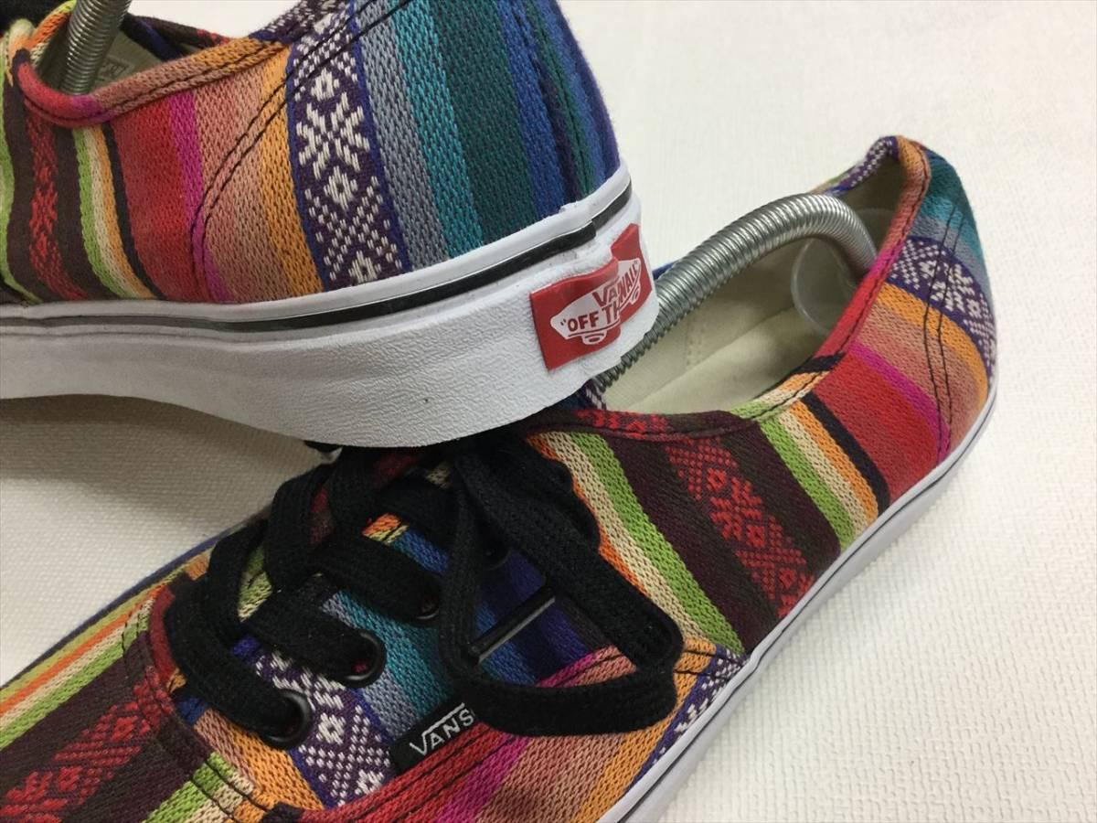 9632ca1f80061f VANS AUTHENTIC colorful rug pattern!! US10 authentic Vans America plan  limitation!