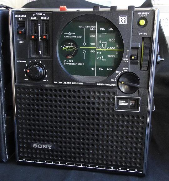 ★ SONY ICF-5600 FM/AM (FM.SW.MW) 3BAND RECEIVER. 【中古品】