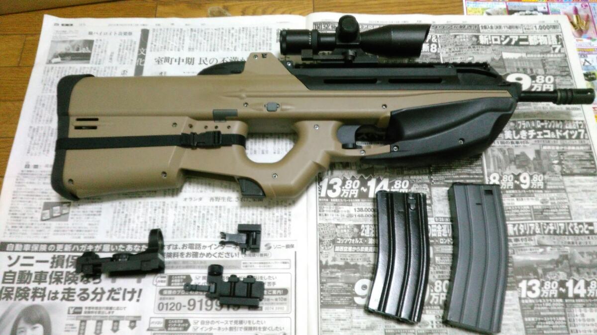 年越し特価1円~ G&G FN F2000(G2010) 改修調整品 スコープ、サイト付属品多数_画像2