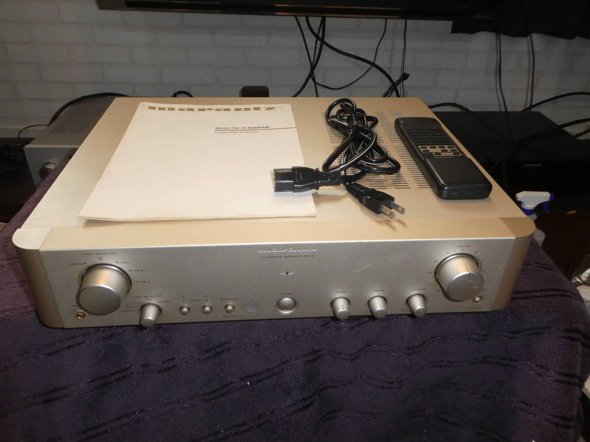 Marantz pre-main amplifier PM-19 remote control * manual attaching free  shipping