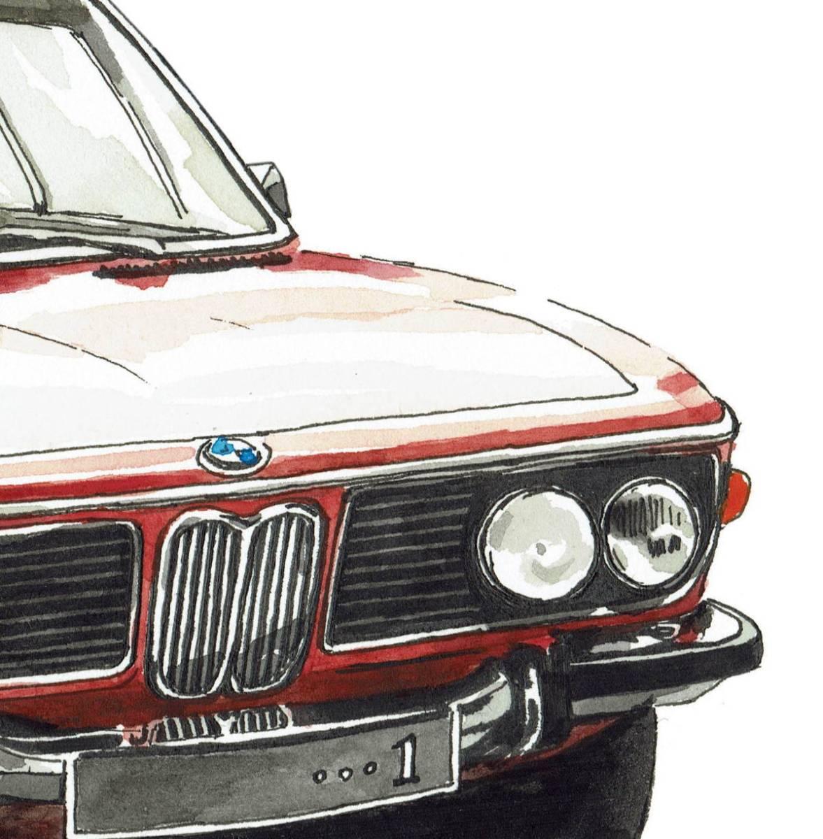 GC-238 BMW 3.0csi/M4 クーペ 限定版画300部 直筆サイン有 額装済●作家 平右ヱ門_画像6
