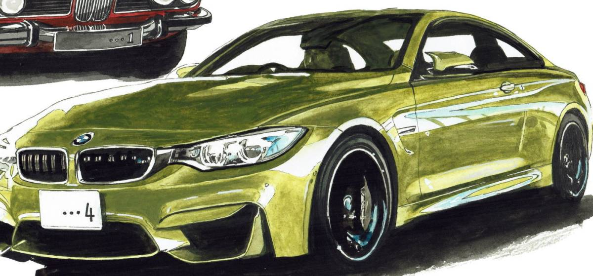 GC-238 BMW 3.0csi/M4 クーペ 限定版画300部 直筆サイン有 額装済●作家 平右ヱ門_画像7