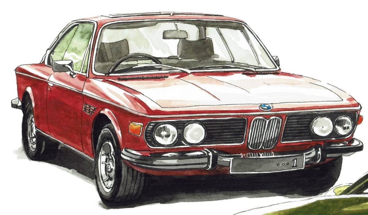 GC-238 BMW 3.0csi/M4 クーペ 限定版画300部 直筆サイン有 額装済●作家 平右ヱ門_画像4