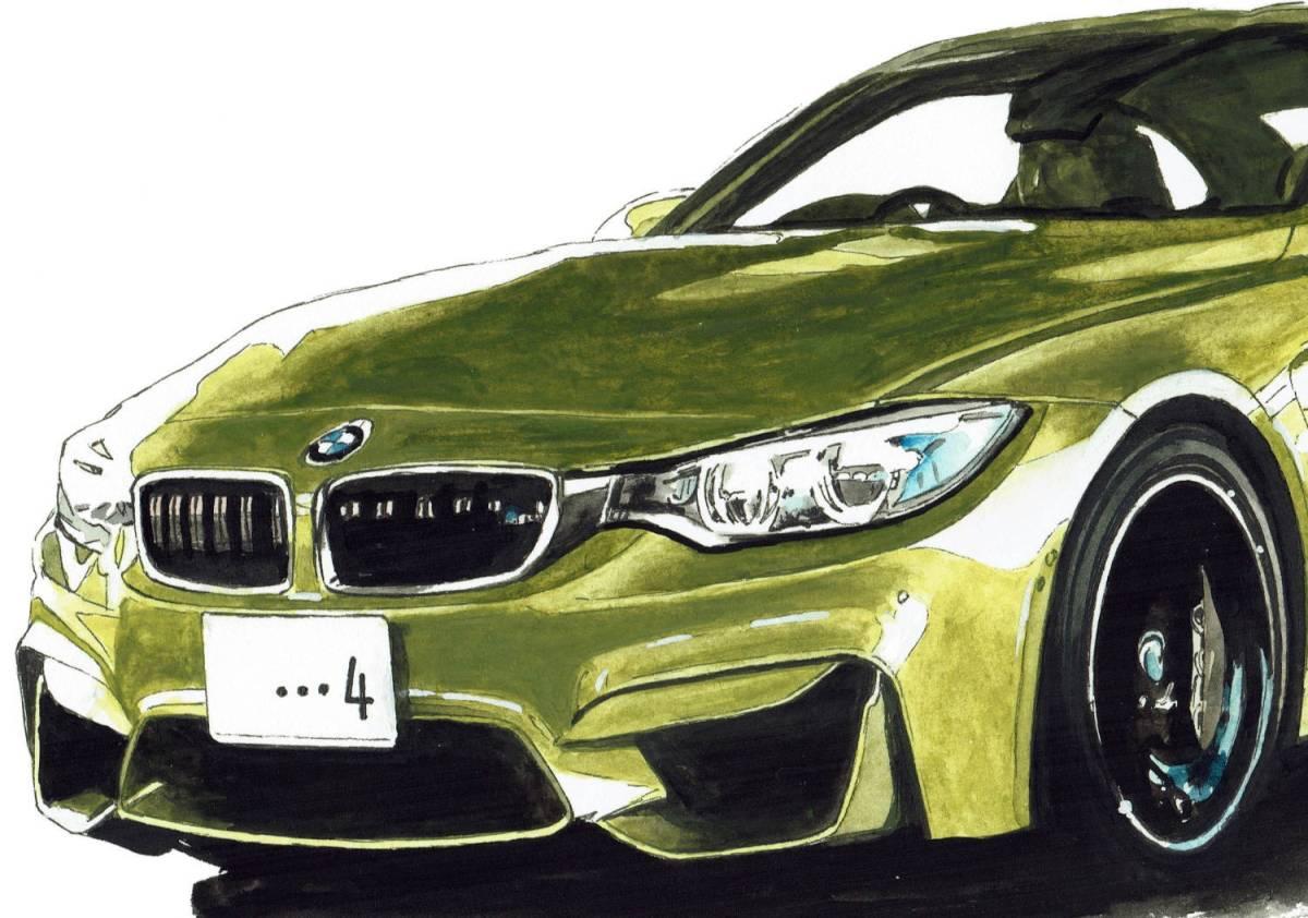 GC-238 BMW 3.0csi/M4 クーペ 限定版画300部 直筆サイン有 額装済●作家 平右ヱ門_画像8