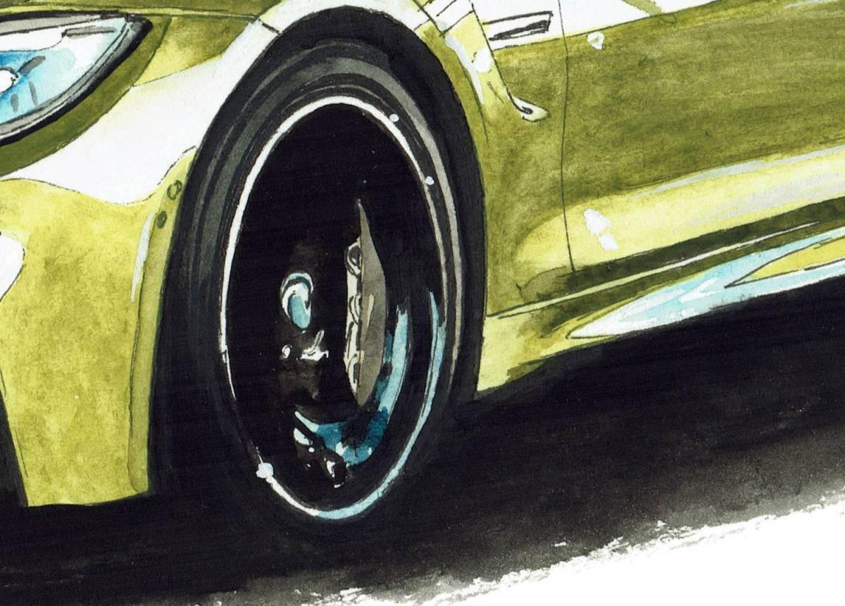 GC-238 BMW 3.0csi/M4 クーペ 限定版画300部 直筆サイン有 額装済●作家 平右ヱ門_画像10