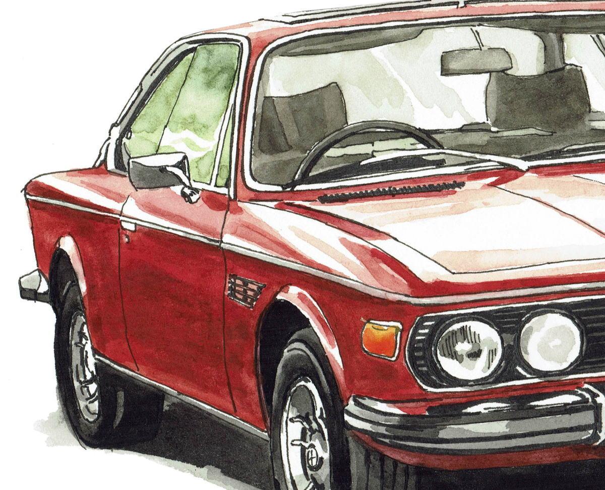 GC-238 BMW 3.0csi/M4 クーペ 限定版画300部 直筆サイン有 額装済●作家 平右ヱ門_画像5