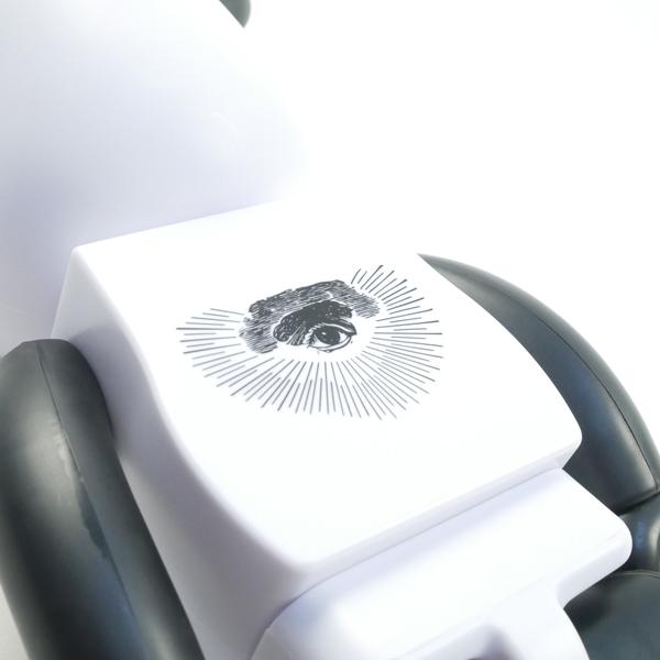 【新品未使用】ベアブリック BE@RBRICK FREEMASONRY × fragmentdesign 100% 400% WHITE ホワイト 白フリーメイソン MEDICOMTOY 【即決】_画像6