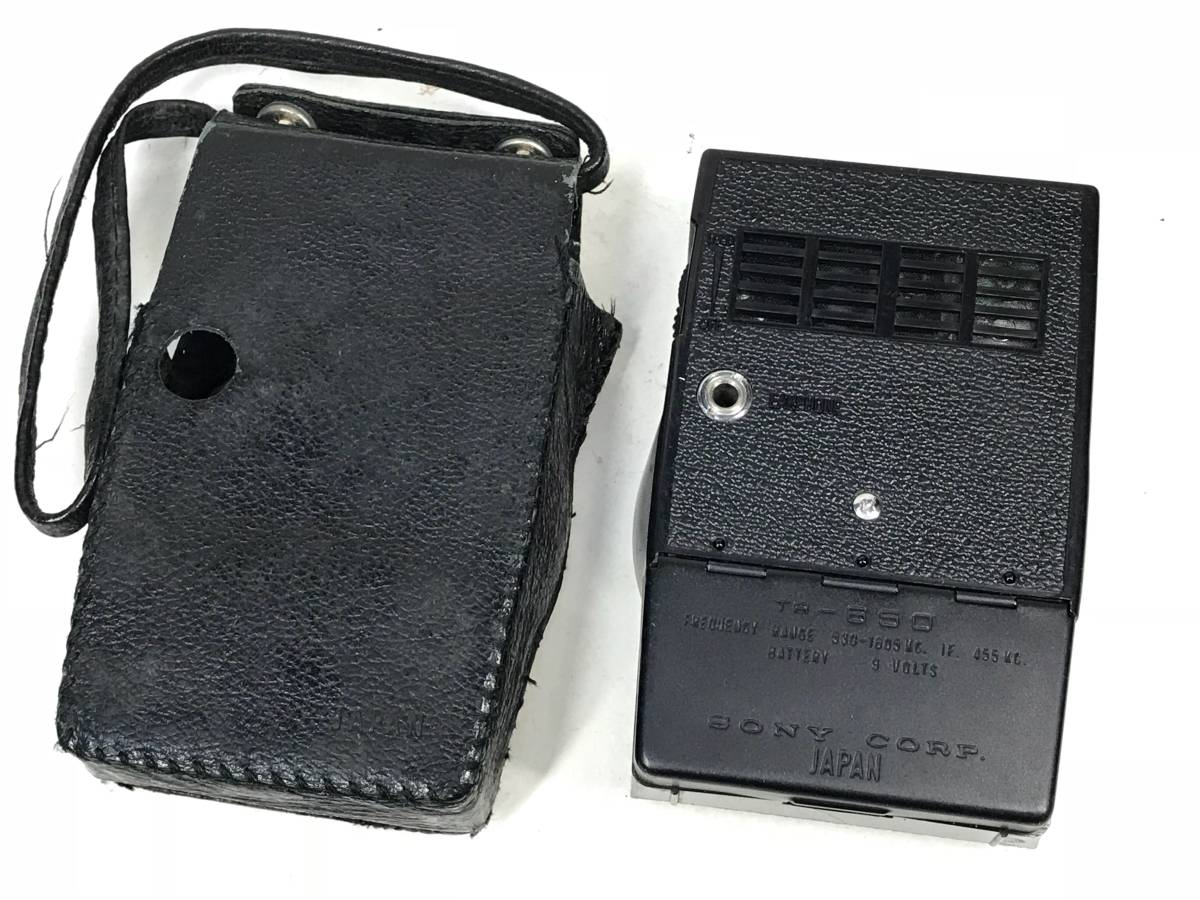 Sony TR-650 受信良好! 動作OKです!専用ケースつき トランジスタラジオ_画像2