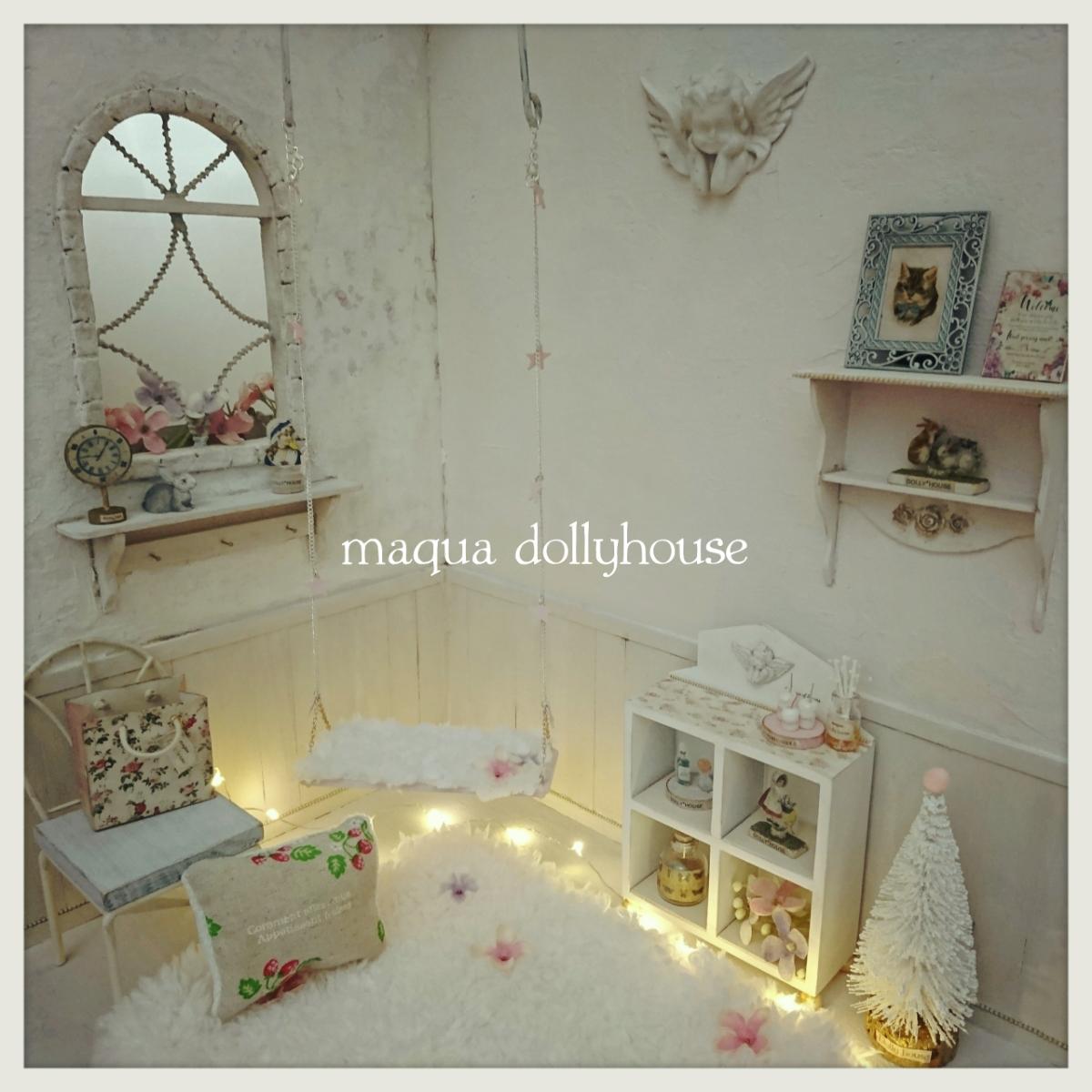 dolly*house【1/6*お部屋セット】アンティーク風 ドールハウス ブライス momoko ミニチュア 撮影背景 家具 ブランコ 天使 キャビネット