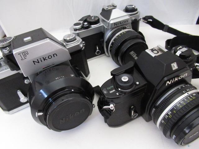 861☆ニコン/Nikon ジャンク扱 F NIKKOR-S AUTO 55mm 1.2/EM NIKKOR 50mm 1.8/FE NIKKOR 50mm 1.4 フォトミック