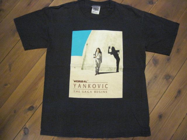 99's アルヤンコビック THE SAGA BEGINS スターウォーズ ファントムメナス パロディー WEIRD AL YAKOVIC バンド ビンテージロックTシャツ