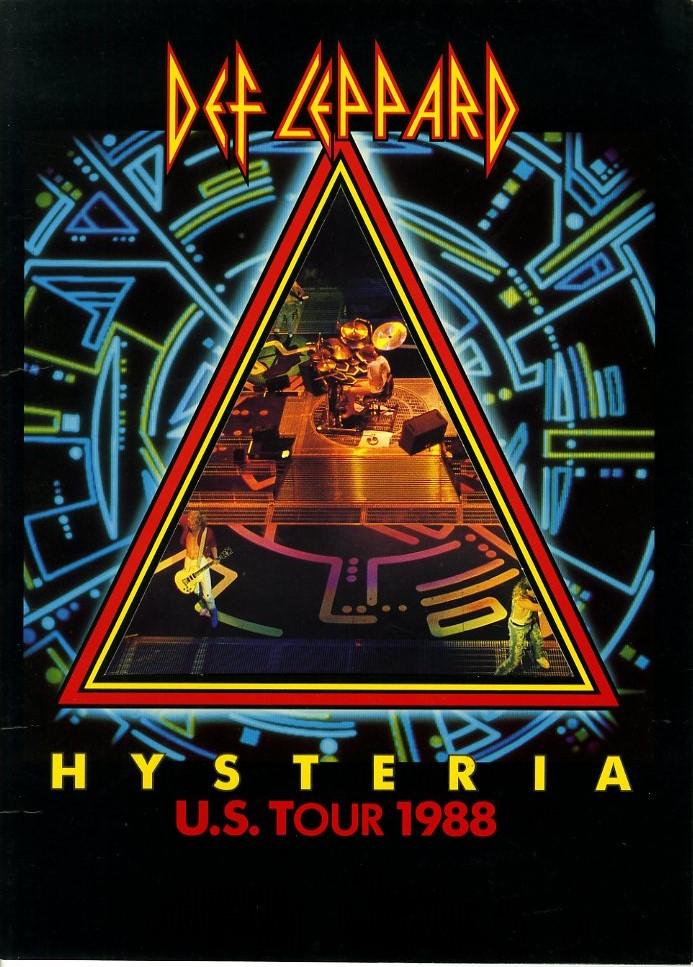 J00001185/□コンサートパンフ/デフ・レパード「Hysteria / U.S. Tour 1988」