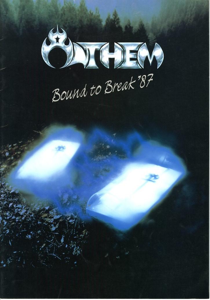 J00001197/□コンサートパンフ/アンセム「Bound To Break 87 (直筆サイン入り)」
