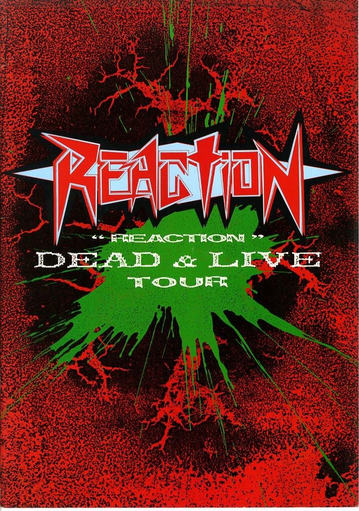 J00001214/□コンサートパンフ/リアクション(アニメタル/G.D.フリッカーズ)「Dead & Live Tour」