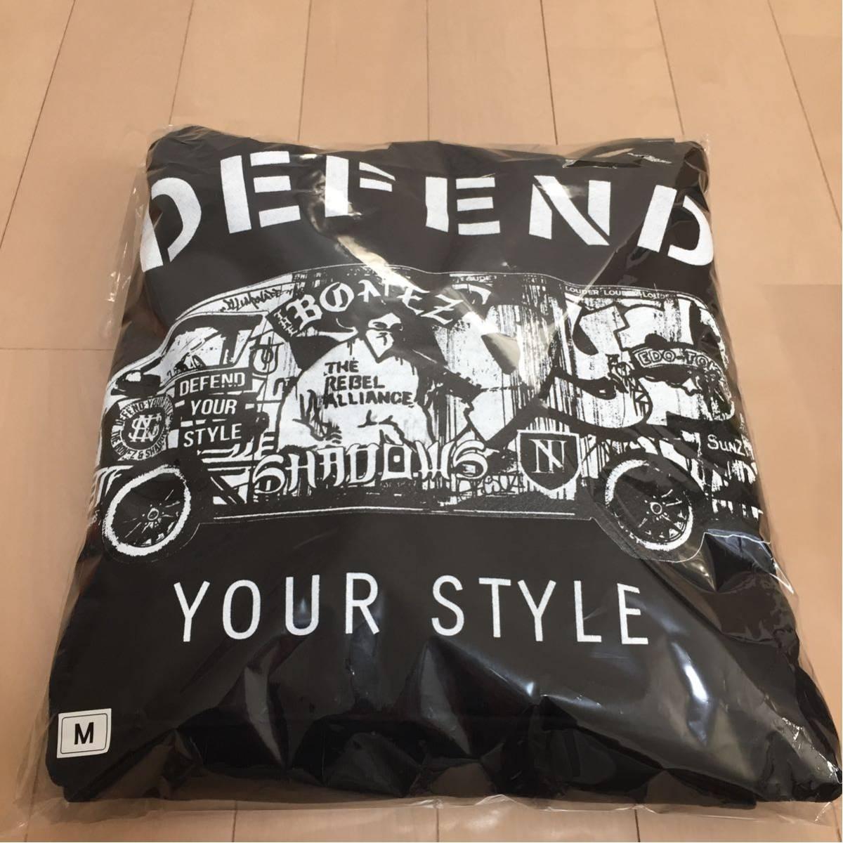 新品!!●The BONEZ × SHADOWS パーカー Mサイズ ブラック 黒 DEFEND YOUR STYLE DYS RIZE JESSE PTP●