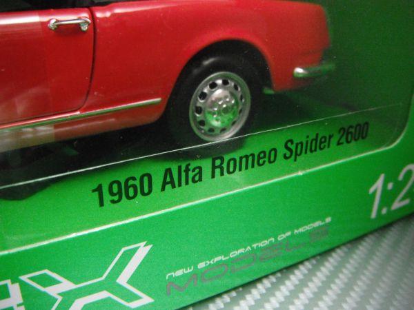 訳あり WELLY 1/24 1960 AlfaRomeo Spider 2600 レッド アルファロメオ スパイダー_画像4