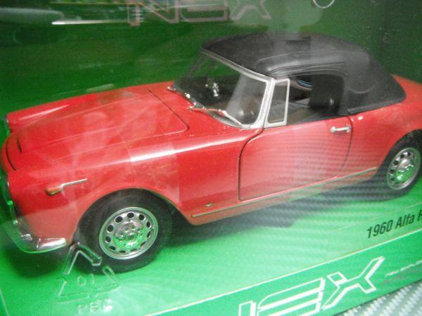 訳あり WELLY 1/24 1960 AlfaRomeo Spider 2600 レッド アルファロメオ スパイダー_未開封