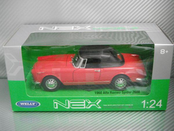 訳あり WELLY 1/24 1960 AlfaRomeo Spider 2600 レッド アルファロメオ スパイダー_画像2
