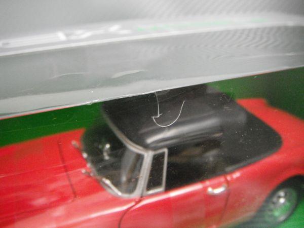 訳あり WELLY 1/24 1960 AlfaRomeo Spider 2600 レッド アルファロメオ スパイダー_パッケージ亀裂(小)