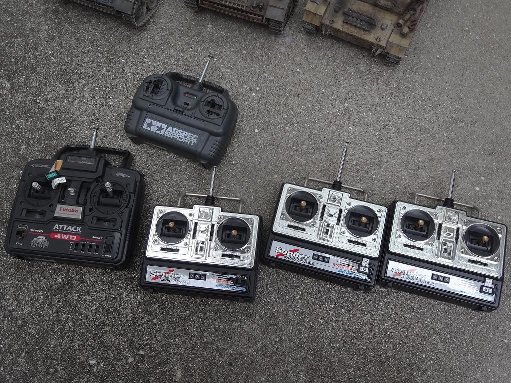 ● 1/16 3号戦車 3台セット プロポ大量 バッテリー2本 (金属履帯 金属砲身) ※ジャンクにて_画像9