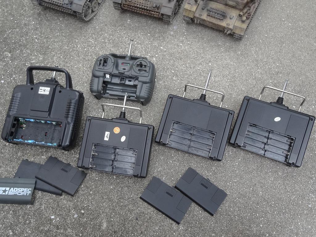 ● 1/16 3号戦車 3台セット プロポ大量 バッテリー2本 (金属履帯 金属砲身) ※ジャンクにて_画像8