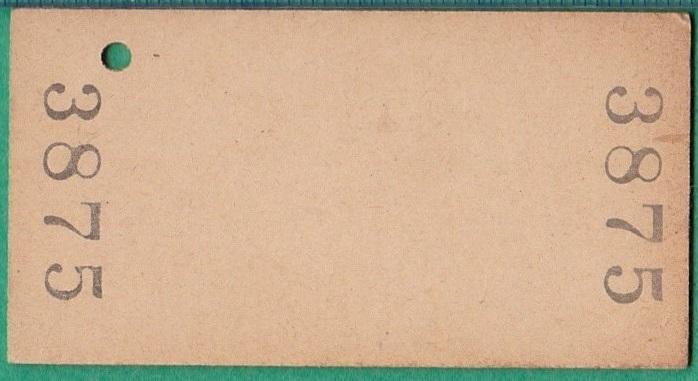 鉄道硬券切符3■常陸大子から袋田ゆき 10円 33-7.18_画像2