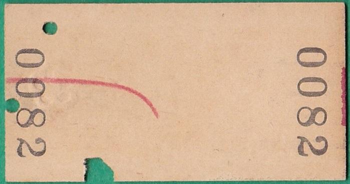 鉄道硬券切符140■東京電環から上州三原ゆき 490円 35-3.21_画像2