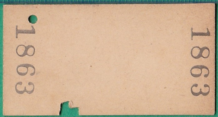 鉄道硬券切符211■長野原から太子ゆき 10円 31-10.28_画像2