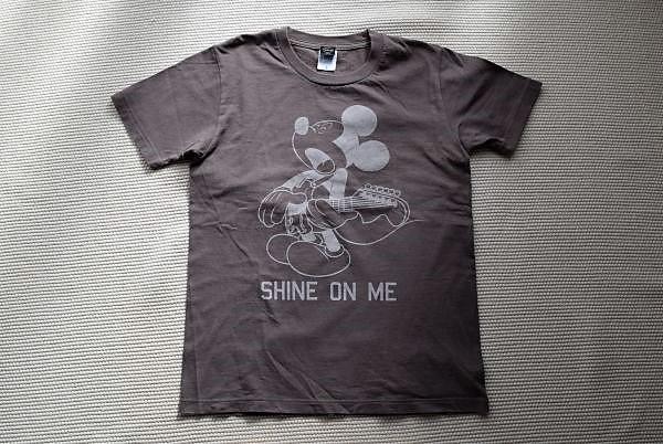 the band apart × DISNEY/ディズニーコラボTシャツ/SHINE ON ME/チャコールグレー/Sサイズ/美品