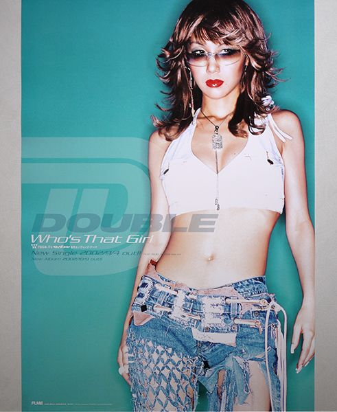 <ポスター>DOUBLE「Who's That Girl」2002年 TAKAKO ★非売品