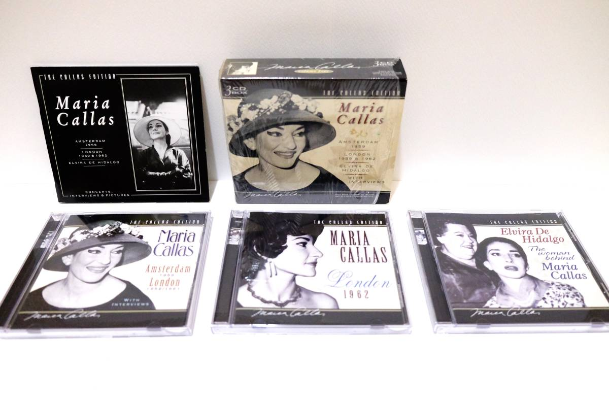 ■輸入盤・廃盤■マリア・カラス エディション ボックス Maria Callas Edition volume1,2,3,4,5,6セット BOX 18CD+ブックレット◆美品◆_BOX4中身(3CDとブックレット)