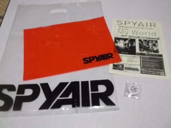 ▽ SPYAIR ★ スパイエアー 2012 【 新品 缶バッジ + クリアファイル + 袋 + チラシ 】