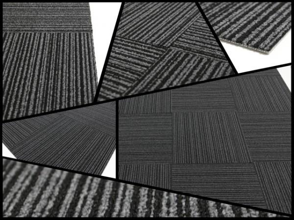 【最上級品】タイルカーペット 【グレー】 新品40枚《NT7306》_画像2