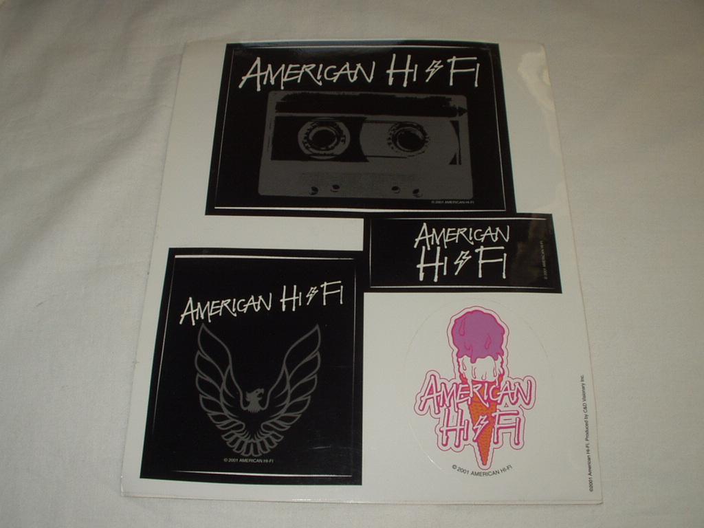 ◆ビンテージAmerican Hi Fi オフィシャルステッカー 2001年製 レア アメリカンハイファイ