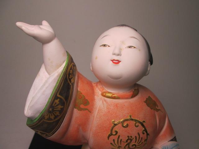 ☆博多人形師 中村信喬作 「桃童子」 共箱 天平衣装人形_画像3