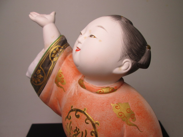 ☆博多人形師 中村信喬作 「桃童子」 共箱 天平衣装人形_画像4
